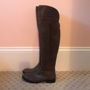 Tory Burch brown suede over the knee boots
